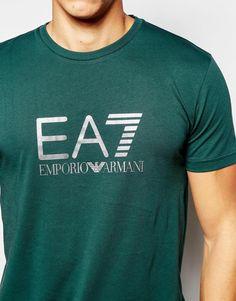 大きなロゴプリントとエンポリオアルマーニEA7 Tシャツの画像3