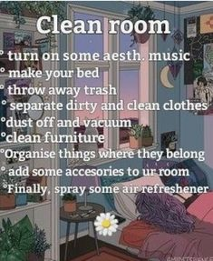 The clean room checklist for anybody The clean room checklist for anybody Skykis. The clean room c Room Cleaning Tips, Cleaning Hacks, Bedroom Cleaning, Declutter Bedroom, Cleaning Wood, Cleaning Closet, Cleaning Supplies, Cute Room Ideas, Cute Room Decor