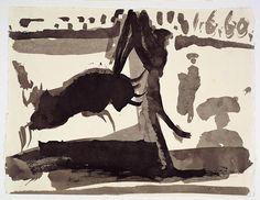 fourteenth:  Pablo Picasso (1881-1973), Les banderilles, 1960.