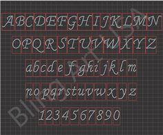 84685530f6e7 Rhinestone Font Design Sticky Flock Template Easy Stencil Pink Color Flock Pattern  Bling Art Transfer File
