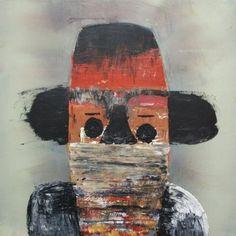 Raouf Rifai, 'Darwish 12', acrylic on canvas, 50 cm x 50 cm