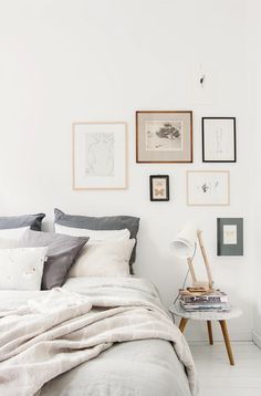 Natürliche Eleganz im Schlafzimmer: helle Wandfarben