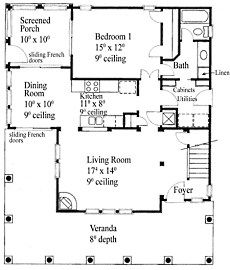 Small Cottage House Plans 800 square foot cottage** divide the master bdrm in half for cats