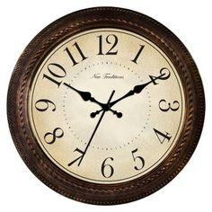 Threshold™ Round Quartz Wall Clock - Bronze Finish : Target $22.99