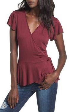 Leith Ruffle Wrap Top - Under $30 #shopping #ad #fashion #deals