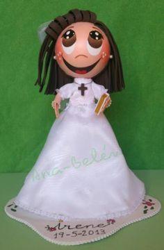 Muñeca fofucha de Comunión personalizada