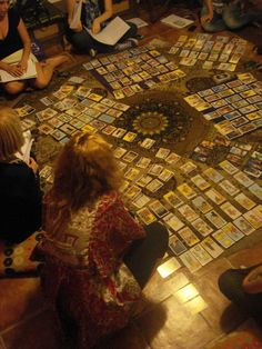 """""""I have a new pack of Tarot cards."""" GET THE KETTLE BOILING, THE TEA CUPS OUT AND LET'S PARTYYYYY!!"""