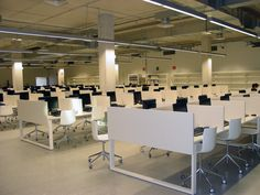 The library of the Carlos Santamaría centres, located on the campus of the University of the Basque Country in San Sebastian, with 8000 m² surface distributed on two floors, for 1000 users in total.  All Workstations are made with the product CUBO, formed by 1 Socket outlet to connect computers.