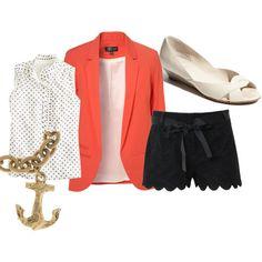 . cutee shorts and blazer