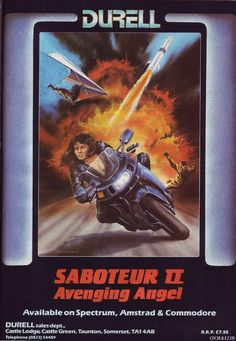 Saboteur II: Avenging Angel is a 1987 video game for the ZX Spectrum, Amstrad CPC and Commodore 64 platforms. It is a sequel to the 1985 video game Saboteur. Saboteur II was one of the first action-adventure games to feature a female protagonist. #femaleprotagonist #1980s #MsMaleCharacter
