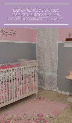 #einrichtungsideen schlafzimmer graues bett Babyzimmer in Grau und Rosa gestalten – Entzückende Ideen für eine mädchenhafte Einrichtung - Kinderzimmer ideen