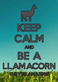 KEEP CALM AND BE A LLAMACORN THEY'RE AMAZING