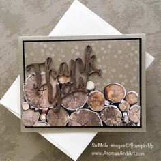 By Su Mohr for GDP142; Click READ to go to my blog for details! Featuring: Thank You die, Wood Textures, Tranquil Textures; #thankyoucards #masculinecards #woodtextures #tranquiltextures #stampinup