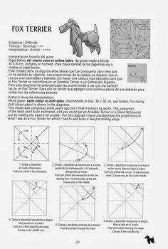 FOX TERRIER ROMAN DIAZ Hola Amigos Bueno En Este Dia Les Queria Mostrar Como Origami