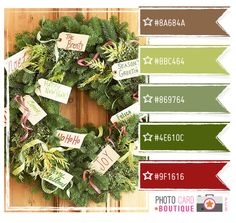 Wow! I love this color palette and the wreath too!