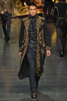 STEAMPUNK FASHION FOR MEN | Dolce & Gabbana Men's Fashion: Tailoring & Embroidery - Fall Winter ...