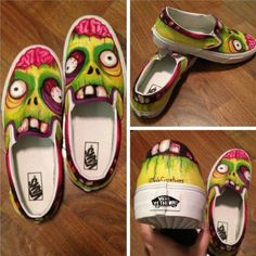 Humor Train - Funny Pictures, Pic Dumps, Animals and GIFs. Painted Canvas Shoes, Painted Vans, Custom Painted Shoes, Painted Sneakers, Hand Painted Shoes, Custom Vans Shoes, Custom Sneakers, Sneakers Design, Crazy Shoes