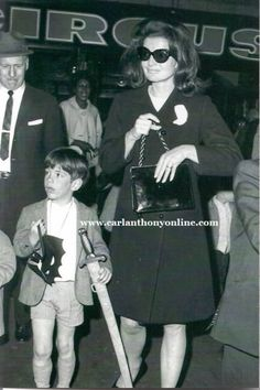 Jackie Kennedy brought John to Ringling Brothers & Barnum Bailey Circus at Madison Square Garden in 1965 and bought him a Batman mask and plastic sword.