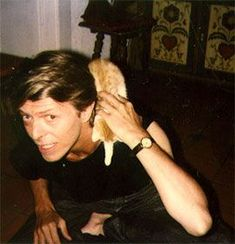 David Bowie and a cat. <3