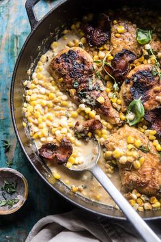 You Have Meals Poisoning More Normally Than You're Thinking That Garlic Butter Creamed Corn Chicken Receitas Crockpot, Corn Chicken, Buttered Corn, Creamed Corn, Creamed Chicken, Half Baked Harvest, Le Diner, Comfort Food, Carne