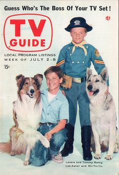 Tommy Rettig and Lassie,  Lee Aaker and Rin Tin Tin  July 2-8 1955