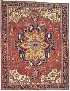 Persian Heriz Serapi rug, circa 1900