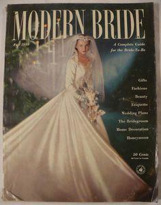 Modern Bride - vintage magazine cover