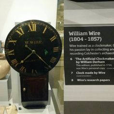 William Wire clock