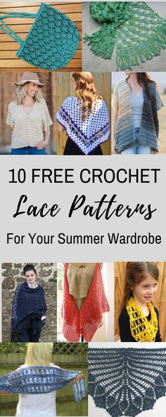 FREE Crochet Lace Patterns to Keep you in style all summer long! You will love this lace!