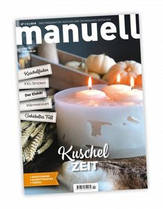 Magazin manuell Ausgabe Januar-Februar 2019 - Verlag manuell GmbH Tea Lights, Candles, Magazine, February, Tutorials, Tea Light Candles, Magazines, Pillar Candles, Lights