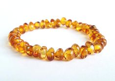Feeding Earrings Genuine Amber Bracelet/anklet Child-adult Knotted Beads Sizes 13-25 Cm