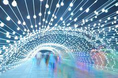 AEPioneer light tunnel tehran designboom