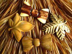 Купить Заколки для волос деревянные - комбинированный, заколка для волос, подарок, деревянные заколки, шпильки для волос