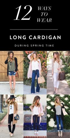 12 Ways to Wear a Long Cardigan in Spring // Brighton the Day                                                                                                                                                     More