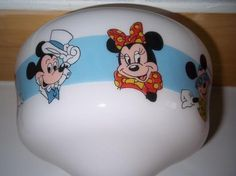 *Free Shipping!* DISNEY MICKEY AND MINNIE MOUSE GLASS LIGHT FIXTURE OR CEILING FAN SHADE