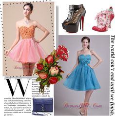 """""""2013 Sweetheart For Custom Made Prom Graduation Dress with Beaded Bodice Organza"""" by prettydressesforyou ❤ liked on Polyvore"""