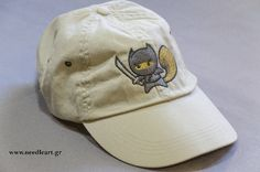 Dad hat,Ninja squirrel ,hat,Caps, baseball cap,embroidery,machine embroidered, logo on baseball  hat by NeedleArtGR on Etsy