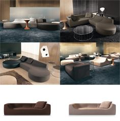 HOCKNEY Sofas - A seating system with flexible shapes. Minotti | Design by Rodolfo Dordoni