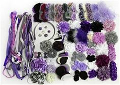 NEW Pretty in Purple #DIY #Hair Accessory Kit - themed accessories for you to create your own 40-50 headbands and hair clips!
