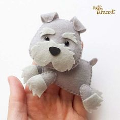 Apostila Digital - Schnauzer - Cachorrinho em feltro Pocket, fácil confecção