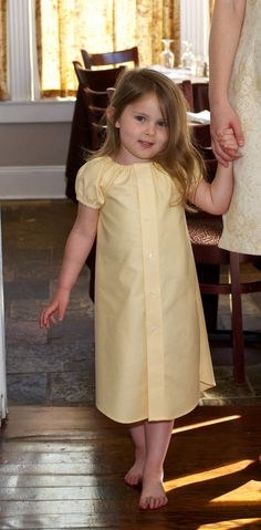 Another men's button down repurposed into girls' dress