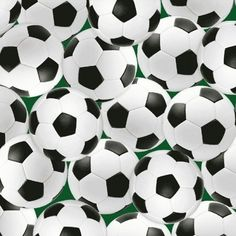 One Yard In The Game  Soccer Balls  Cotton by WarmKittyQuilts, $9.95