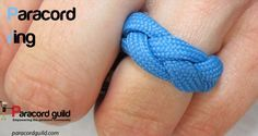 46 Paracord Project DIY Tutorials - How to make a paracord ring I assume this is for a thrifty bride.