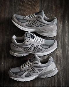"""b94f5d70c8392 Bodhicouture inc. on Instagram: """"When you've got ALL the greys...  😍@anson1019 has it nailed! 💥 Three iterations of the classic #MADEINUSA  🇺🇸 @newbalance ..."""
