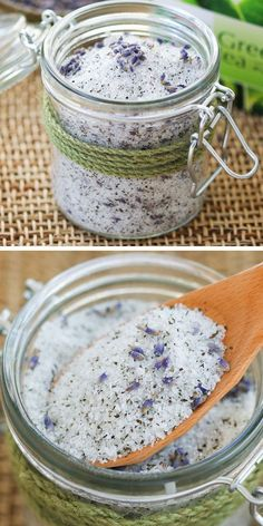 Lavender & Green Tea Foot Soak | 40 DIY Gift Basket Ideas for Christmas | Handmade Gift Ideas for Christmas