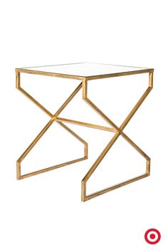 We are all about this brass. This contemporary metal accent table from Nate Berkus' newest collection brings instant style-cred to any room.