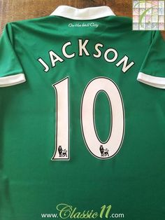 Relive Simeon Jackson's Premier League season with this original Errea Norwich City away football shirt. Norwich City Football, Football Shirts, Premier League, Jackson, How To Memorize Things, Soccer, Store, Classic, Football Jerseys