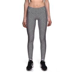 a525c7bd5f2 HIPSTERME Black and white strips Leggings. Print LeggingsSports LeggingsWorkout  LeggingsWomen s ...