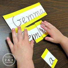 Montessori Monday - Montessori-Inspired Name Recognition Activities for Preschoolers