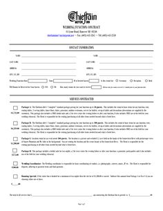 wedding contract for wedding planner google search